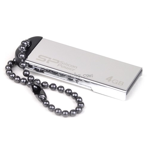 Флаш памет SILICON POWER 4GB TOUCH 830 SILVER USB 2.0